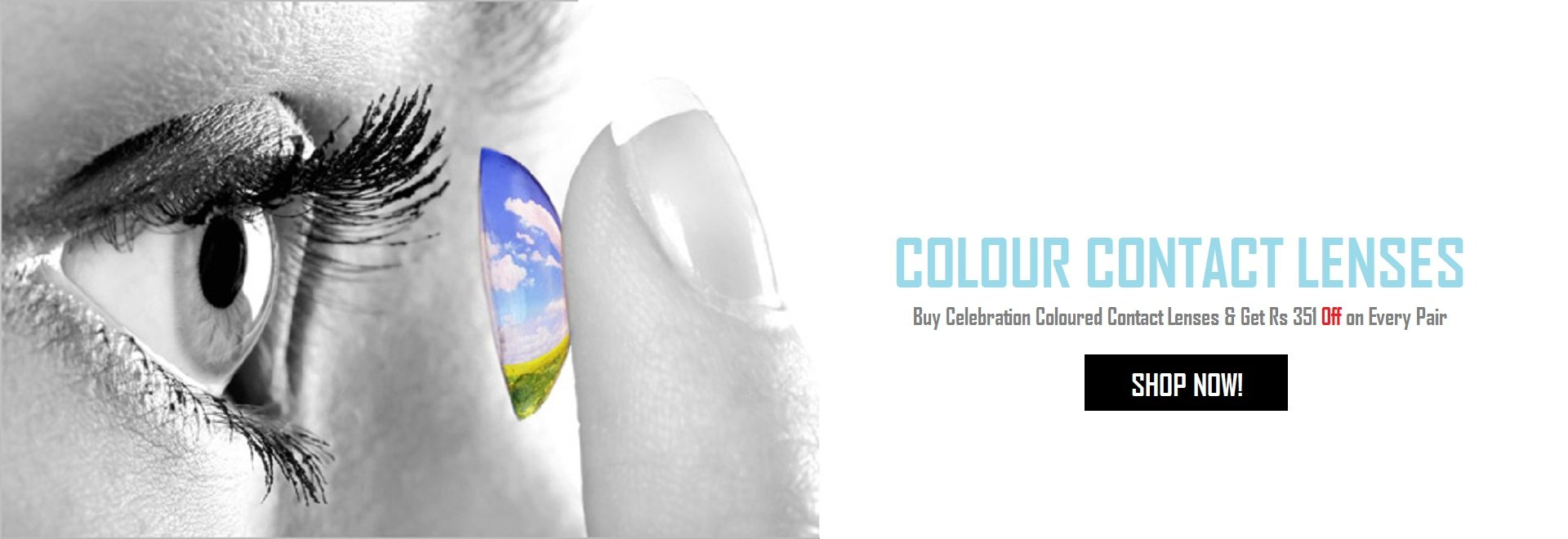 Buy Celebration Coloured Contact Lenses & Get Rs 351 Off on Every Pair