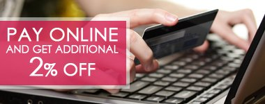 Pay Online and get 2% off