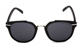 VINTAGE ELEMENTS 1182 Matt Black Sunglass