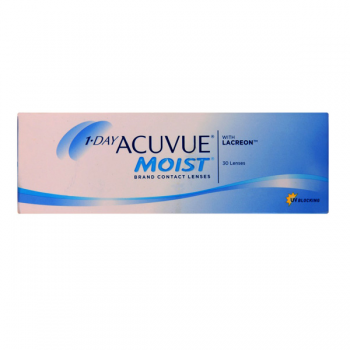 Johnson & Johnson 1-Day Acuvue Moist Disposable Contact Lenses (90 Lens)